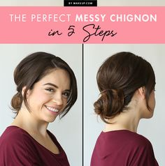 We've mastered the chignon bun, now what's next? Perhaps this messy chignon hairstyle? We love this perfectly imperfect look and the chic edge it adds to any formal ensemble. And, not only is it hot, hot, hot, but it's also easy, easy, easy! Check out how to do a lovely messy chignon in just a few steps!