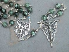 Seraphinite Gemstone and Sterling Silver by MarysGardenRosaries, $300.00