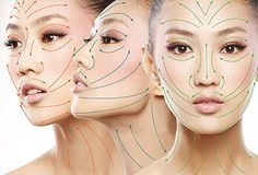 Face Massage Lines. 5 Elements, Face Massage, Traditional Chinese Medicine, Acupressure, Alternative Medicine, Face And Body, Septum Ring, Facial, Halloween Face Makeup