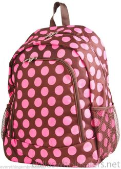 Personalized backpack embroidered with one large initial, 3 initials or one name!