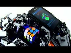 This is how you solve a Rubik's cube in 5 seconds using Lego robotics. Okay, the robot cheated a little because it had some additional help from a Samsung Galaxy S2.