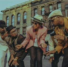 "Bruno Mars ""Uptown Funk"" is hot because it has that that old school groove a la James Brown an these guys bring it up a whole notch because they not only sing it but they can break a leg too..."