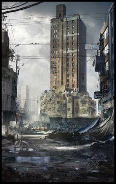 Deserted city by Scoobylt on DeviantArt