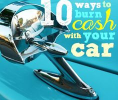 10 ways to burn cash with your car. Learn how to save money on cars, petrol and more. Burns, Saving Money, Lifestyle, Window, Car, Automobile, Save My Money, Windows, Money Savers
