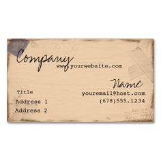Vintage Passport Business Cards. This is a fully customizable business card and available on several paper types for your needs. You can upload your own image or use the image as is. Just click this template to get started!