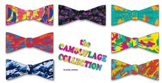 The Camouflage Collection: 7 DIY Bow Ties from shop.Lavaguy.com
