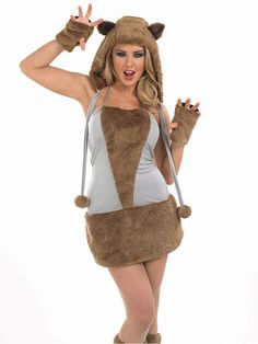 Ladies Sexy Brown Bear Fox Wolf Animal Fancy Dress Costume Outfit Plus Size Animal Fancy Dress Costumes, Halloween Fancy Dress, Costume Shop, Costume Dress, Vampire Fancy Dress, Fancy Dress Ball, Costumes For Women, Special Occasion Dresses, Plus Size