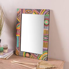 Mirror Painting, Painting Words, Painting Frames, Cool Mirrors, Diy Mirror, Painted Mirrors, Mirror Ideas, Islamic Art Canvas, Carpentry Projects