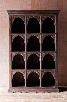 "Ornate 12 Cubby Indian Shelf, in my dreams!, 64.5"" H x 42.25"" W x 13.25"" D, $950"