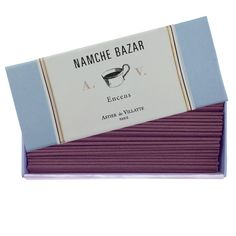 Namche Bazaar - Incense Box (120 sticks) by Astier de Villatte. Shop now at http://www.aedes.com!