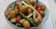 Pommes de terres primeurs aux saucisses & asperges | Ma p'tite cuisine