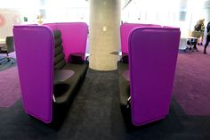 Commonwealth Bank: Meeting spaces are engineered to contain the sound of conversations to help confidentiality.