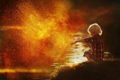 GOLD DUST. BOY THROWS SAND by NATALIA ZHUKOVA on 500px