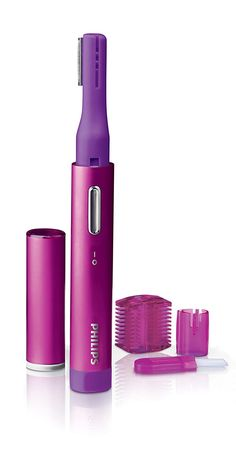 Quickly remove unwanted facial hair; electric precision trimmer provides gentle and precise touch ups Maintain and shape eyebrows trimming device includes 2 attachments for trimming and shaping hairs Compact and discrete design device is small enough to easily fit in a purse or clutch and travels anywhere