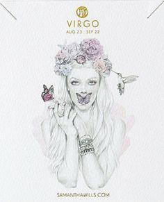 kelly smith illustration & samantha wills jewelry // virgo. #virgo #astrology #zodiac