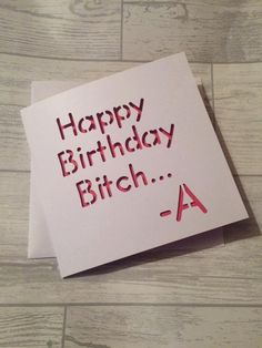 Pretty little liars, birthday card, card for friend, friend's ...
