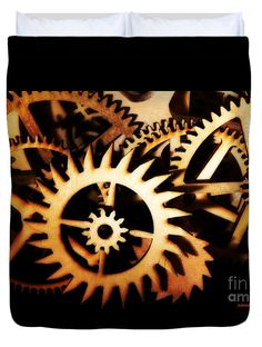 Beautiful Duvet Cover featuring the photograph Cogwheel by Sandra Gallegos