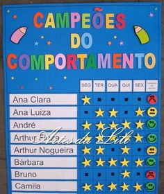 Painel Campeões do Comportamento Preschool Math, Kindergarten, English Activities, Class Decoration, Kids Church, Leiden, Kids Education, Teaching English, School Projects