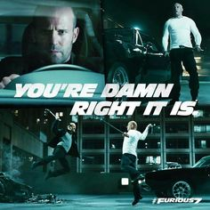 Jason Statham & Vin Diesel. Nothing like two hot bald guys fighting