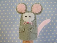 Mouse Finger Puppet Felt by RazzleDazzlebySally on Etsy