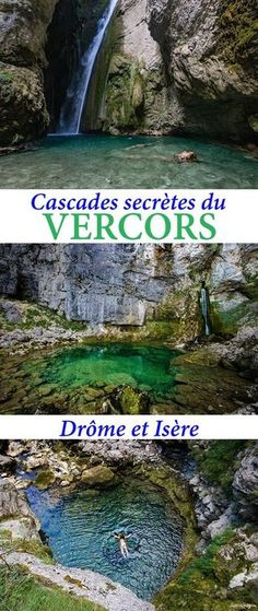 The Vercors and the country of Royans over water: the most beautiful waterfalls of Vercos, underground rivers, secret walks and other things to see in # Drôme and # Isère. Road Trip France, France Travel, Week End France, Travel Around The World, Around The Worlds, Destination Voyage, Beautiful Waterfalls, Europe Destinations, Travel And Tourism