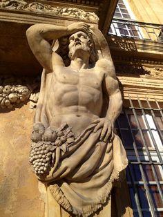 Aix en Provence Aix En Provence, Architectural Sculpture, Architectural Elements, French Riviera Style, Classical Mythology, Neoclassical Architecture, Roman Sculpture, Baroque Design, Plastic Art