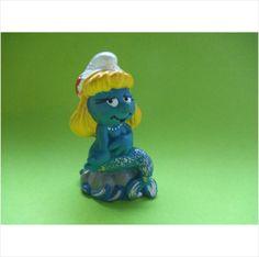 Original Mermaid smurfette with a silver tail and grey rock . Smurfs smurf peyo on eBid United Kingdom