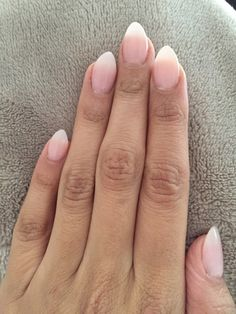 Natural Looking acrylic almond nails with opi gel polish
