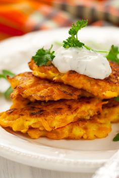 Sweet Potato Latkes (Potato Pancakes) #Recipe with brown sugar and cinnamon