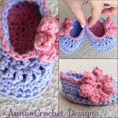 Annoo's Crochet World: Precious Newborn Fall Baby Booties Free  *༺✿ƬⱤღ  http://www.pinterest.com/teretegui/✿༻*