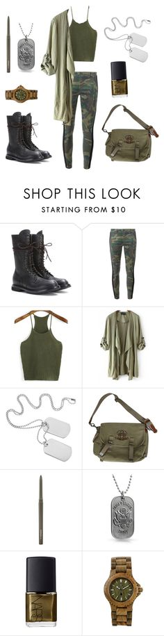 """U.S Army"" by nikolstone ❤ liked on Polyvore featuring Rick Owens, Faith Connexion, Ralph Lauren, MAC Cosmetics, Bling Jewelry, NARS Cosmetics and WeWood"