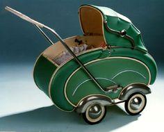 Vintage stroller made in Germany Vintage Stroller, Vintage Pram, Vintage Toys, Pram Stroller, Baby Strollers, Silver Cross Prams, Dolls Prams, Baby Buggy, Baby Prams