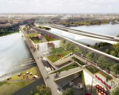 DC Bridge Park OMA OLIN - This will be the park to see in New York City when it's complete!!!