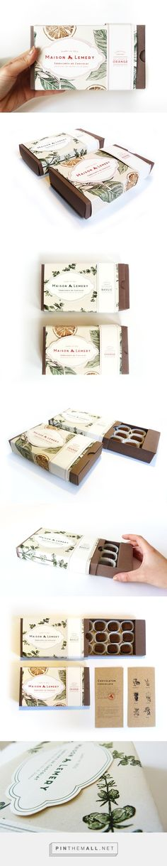 MAISON LEMERY chocolate Packaging by Alice Bouchardon. Pin curated by SFields99 #packaging #design