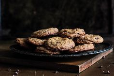 Almond Butter Chocolate Chip Cookies.  Simple recipe for delicious-looking cookies!