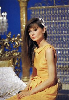 Audrey Hepburn during the filming of Paris When it Sizzles 1962. Dress by Givenchy. Photographed by Vincent Rossell at the Studio de Boulogne