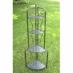 Corner Folding Bakers Rack - Wrought Iron Image