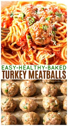 Baked Turkey Meatballs in just 25 minutes! Our Ground Turkey Meatball Recipe can be easily changed to fit your favorite Italian Pasta Recipes or paired with Middle Eastern Dishes with the addition of ground cumin and fresh mint. Italian Turkey Meatballs, Ground Turkey Meatballs, Healthy Turkey Meatballs, Ground Turkey Pasta, Turkey Meatballs Without Breadcrumbs, Ground Beef, Ground Turkey Dinners, Turkey Meals, Turkey Meat Recipes