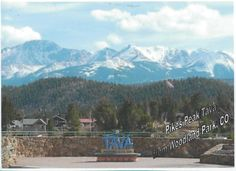 Postcard from Colorado, USA ~ Woodland Park, Colorado.  The mountain is Pikes Peak, called Tava by the Utte Native Americans.  http://www.postcrossing.com/about