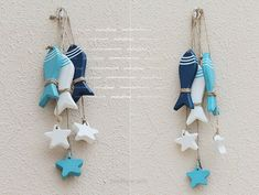 pendant image Picture - More Detailed Picture about Mediterranean Starfish Hung Fish Nautical Decor hang small adorn Crafts Wood Fish / decorated marine pendant Picture in Shells & Starfishes from Rustic Wedding decoration Fish Crafts, Beach Crafts, Clay Crafts, Diy And Crafts, Arts And Crafts, Wood Fish, Craft Free, Hanging Ornaments, Wooden Crafts