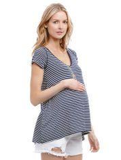 #Maturnity Fashions Women's clothing dresses, tops,Nursing Bra  http://www.planetgoldilocks.com/maternity.htm  #fashions  Jessica Simpson Short Sleeve V-neck A-line Maternity T Shirt, Navy/White Stripe