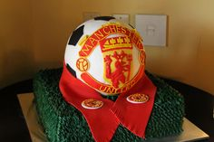 Manchester United Soccer Ball Groom's Cake, Pinery in Black Forest, CO