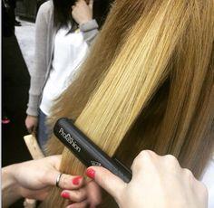 This Profashion Titanium Flat Iron works perfectly to straighten thick hair.