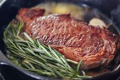 How To Cook Perfect Steak on the Stovetop in 3 EASY Steps.  You hardly need recipes for this kind of thing! Pan seared, make this delicious steak for dinners year round. Try it with filet mignon, sirloin, round steak - anything you like. If you're looking for recipes and meals to make in your trusty cast iron skillet, you need to give this a shot!