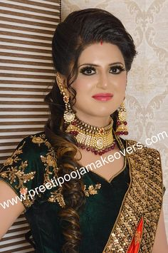 Bridal Hairstyle Indian Wedding, Nice Face, Bridal Makeover, Golden Dress, Makeup Services, Hair Treatments, Beautiful Girl Indian, Best Model, Indian Hairstyles