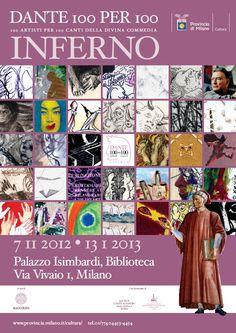 Locandina Dante Alighieri, Photo Wall, Milano, Frame, Cards, Dantes Inferno, Poet, Culture, November