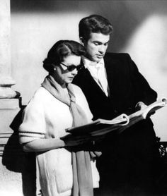 Vivien and warren between takes on the roman spring of mrs. Stone