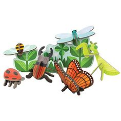 Petit Collage Pop-Out and Build, Bugs and Insects Playset. Hanging Mobile, Hanging Art, New Baby Gifts, Gifts For Kids, Bug Toys, Modern Toys, Collage, Eco Friendly Toys, Pop Out