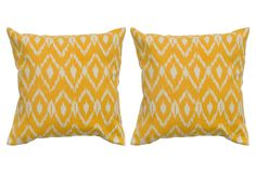 Set of 2 Diamond 18x18 Pillows, Yellow on One Kings Lane today