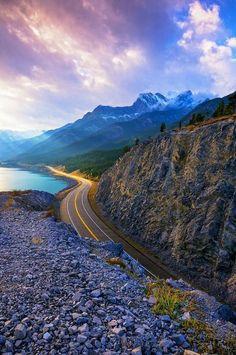 Lake Highway, Alberta, Canada